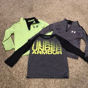 Lot of 3 - Boys - Under Armour shirts